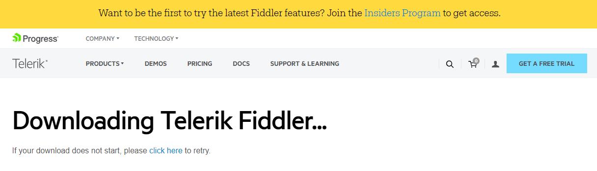 HTTP通信のキャプチャをとるツールFiddlerをWindowsに