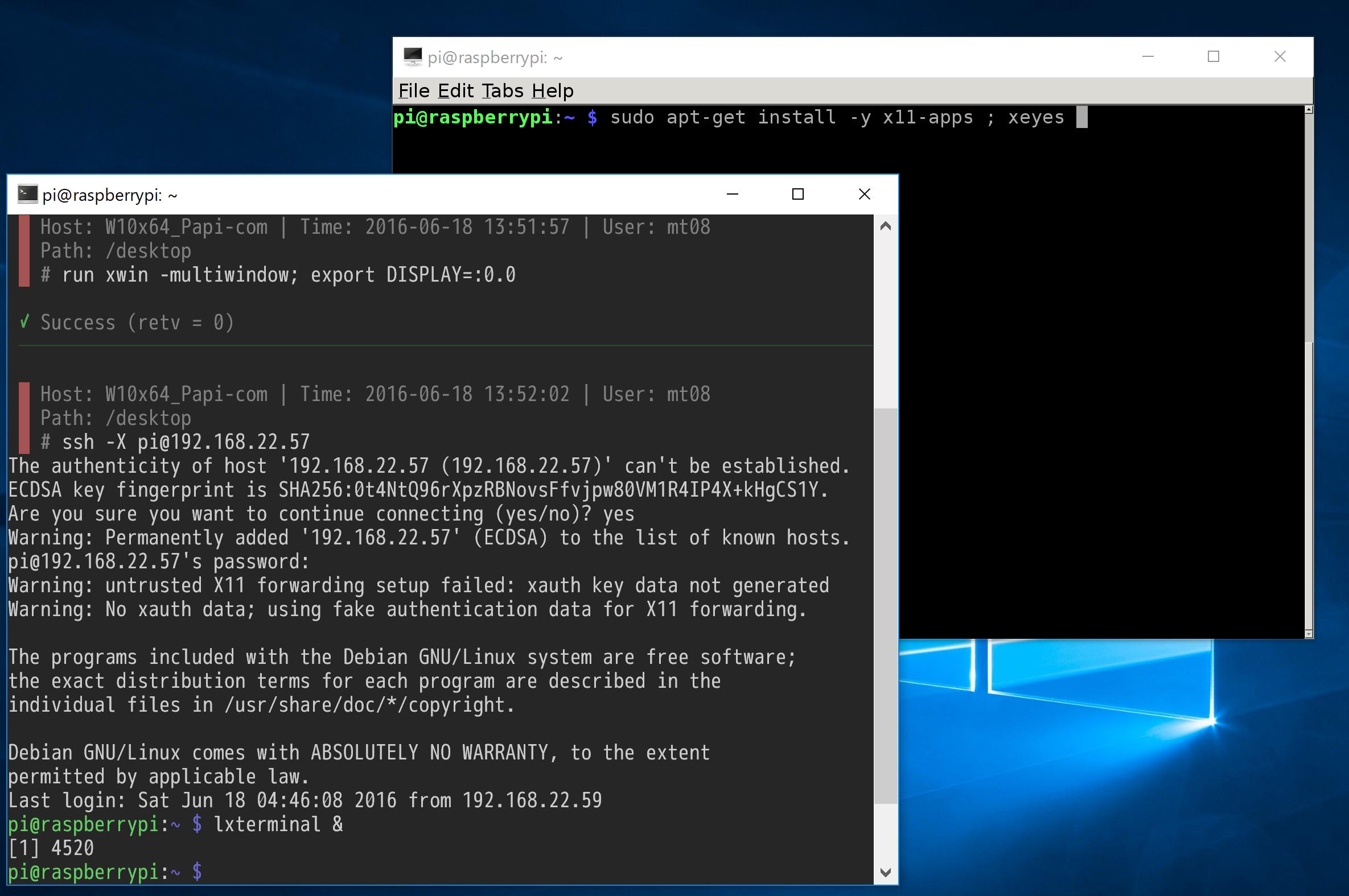 メモ] RaspberryPiとCygwin/X (S...