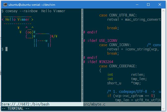 terminal feature