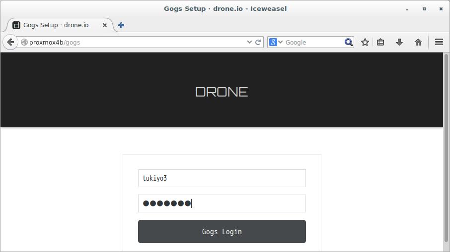 OSS版drone io + Gogsの連携を試みたがpushしてもbuildしなくて