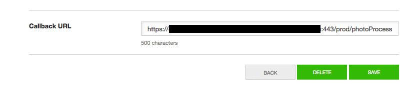 Callback URLの登録