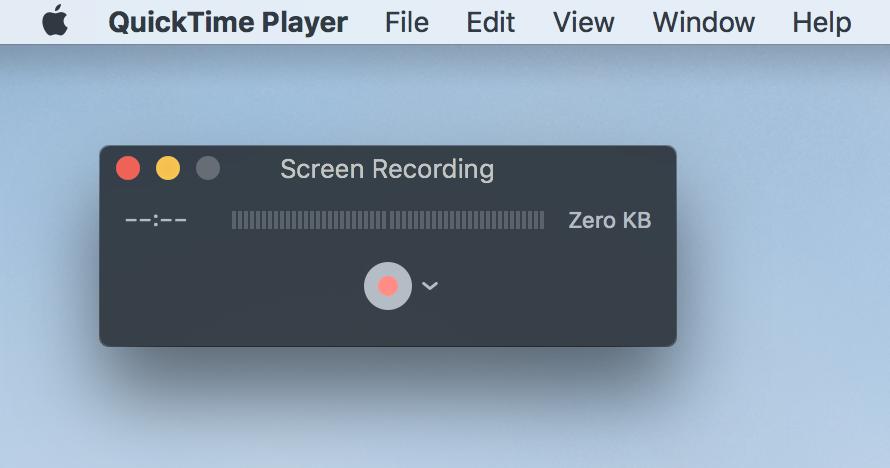 Preparation for recording