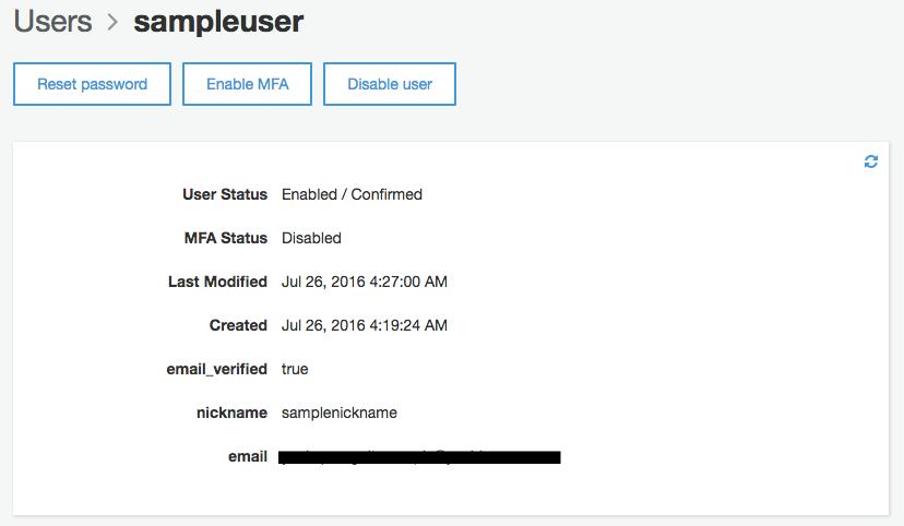 確認コード登録完了直後のUser