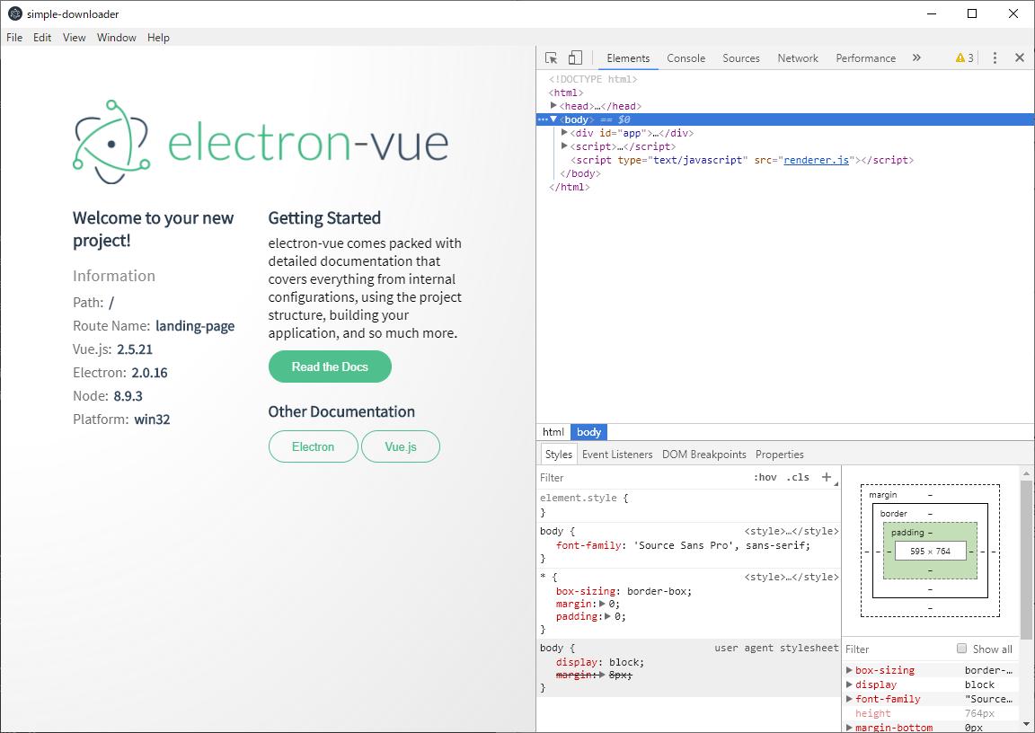 年末年始Webアプリ開発自習の記録6: Node js+Electron+Vue js