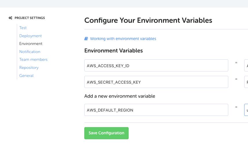 CodeShipの環境変数