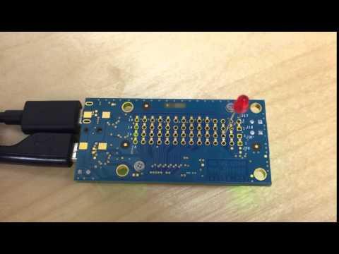 【Intel Edison Breakout board】Lチカ