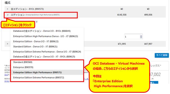 Oracle Cloud の Database Cloud Service(OCI) の概算見積り方法