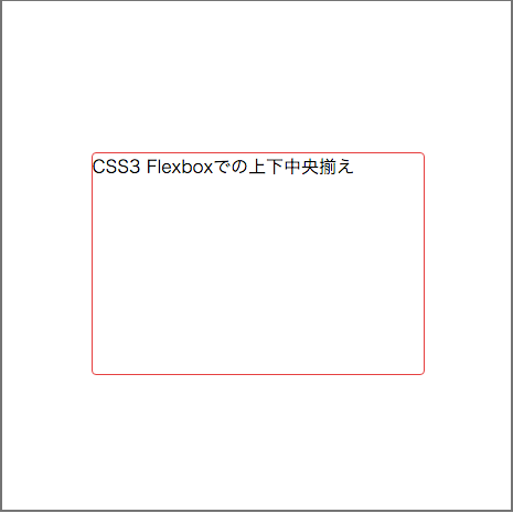 Flexboxなら史上最短4行で上下中央揃え
