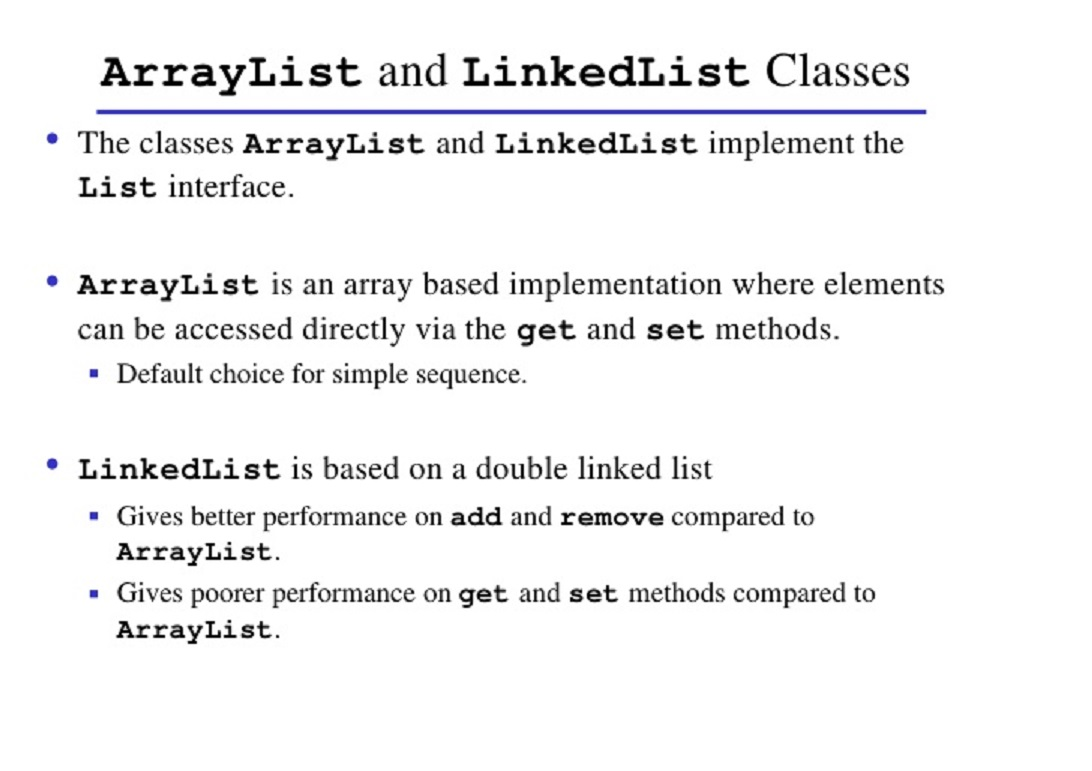 Arrays in java tutorial image collections any tutorial examples linked lists java tutorial gallery any tutorial examples java linkedlist qiita arraylist vs linkedlist in javag baditri Gallery