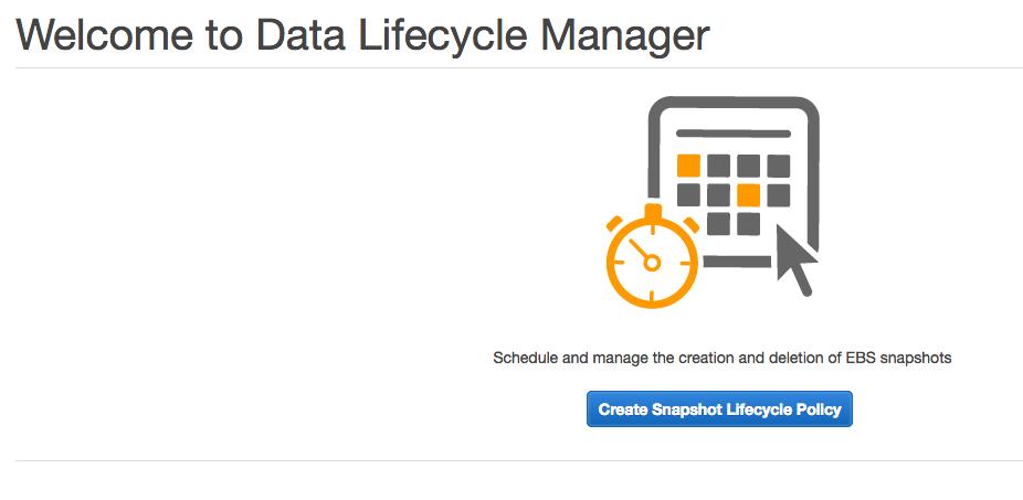 amazon data lifecycle manager amazon dlm を 自分でも やってみた