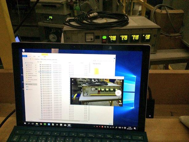 温度ディスプレイの簡易監視システム