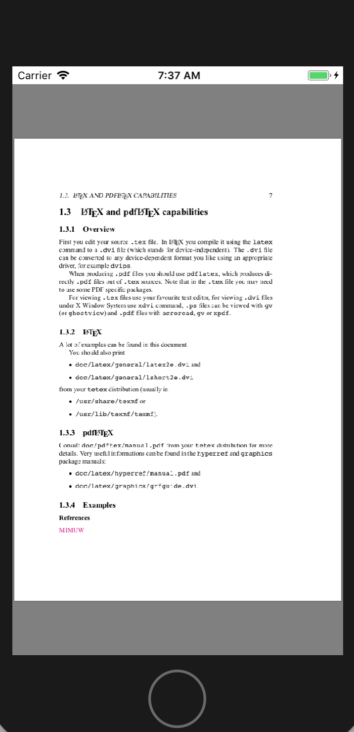 pdf singlepagecontinuous 画像表示