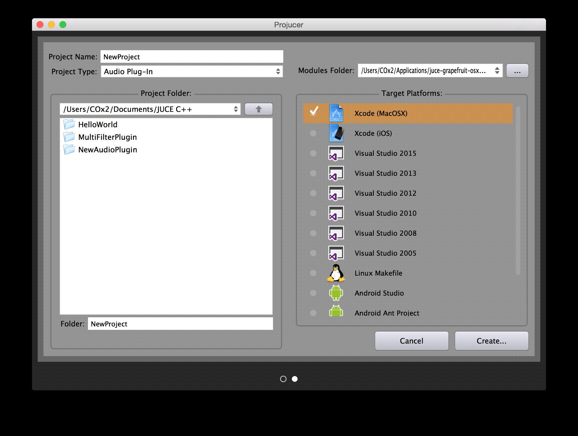 JUCE Frameworkを使ってVST/AudioUnitプラグインを作る Mac編