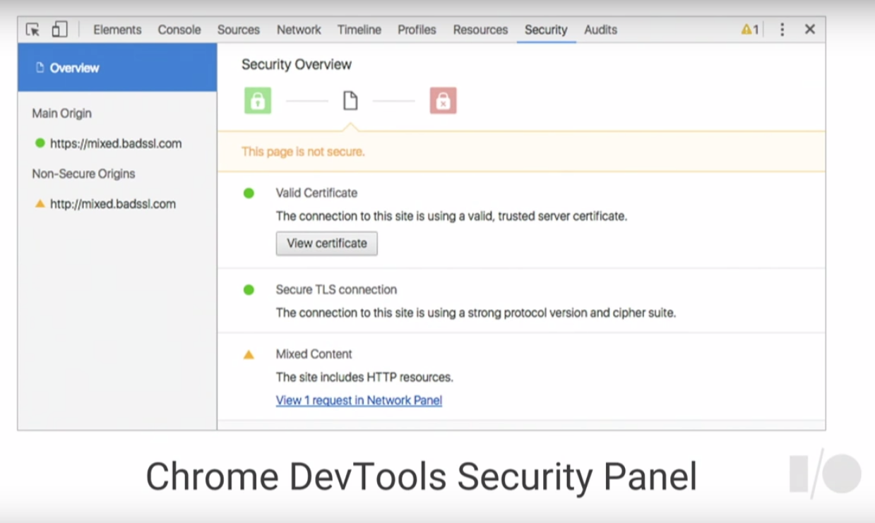 DevTools Security Panel