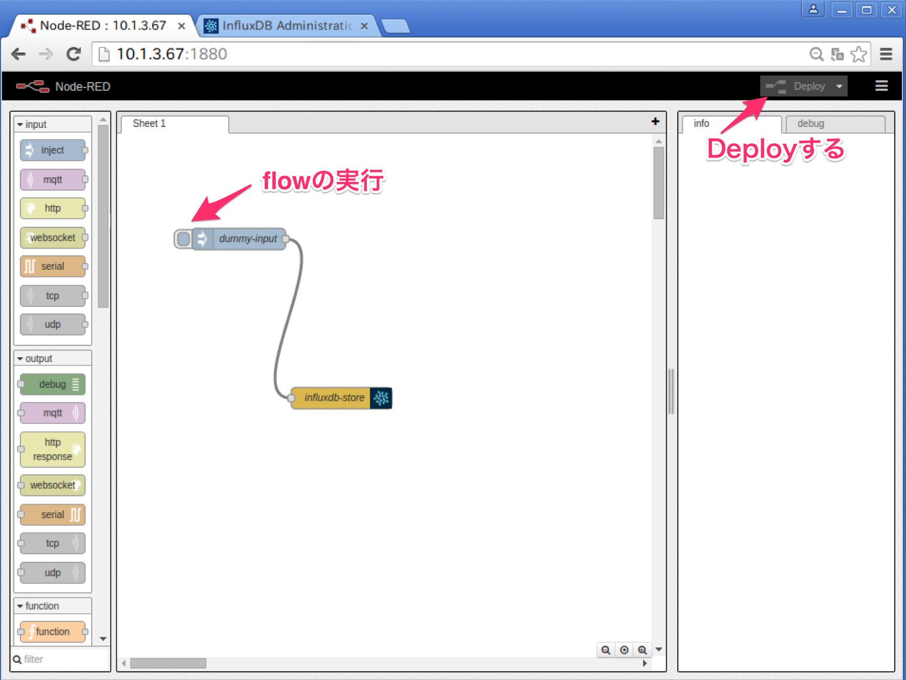 Node-RED on Docker - Part5: InfluxDBのnodeを作成する - Qiita