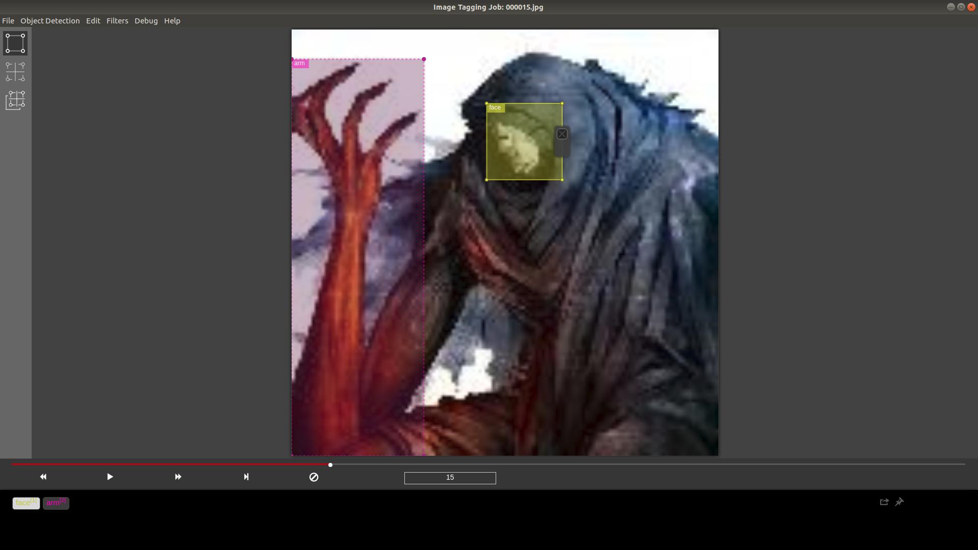 自前の画像をVoTTでアノテーションしてkeras-yolo3に呪腕の