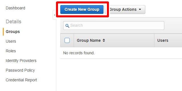 新規グループの作成