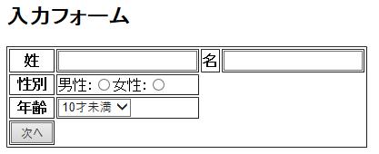 【Java】name属性、value属性、formタグを使う