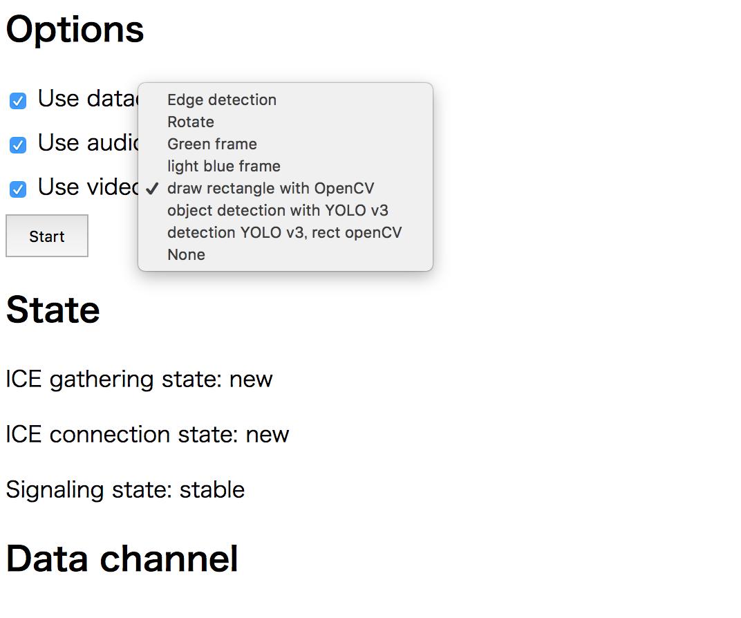 PythonのWebRTC実装aiortcと、物体検出のYOLO v3の連携を試みる