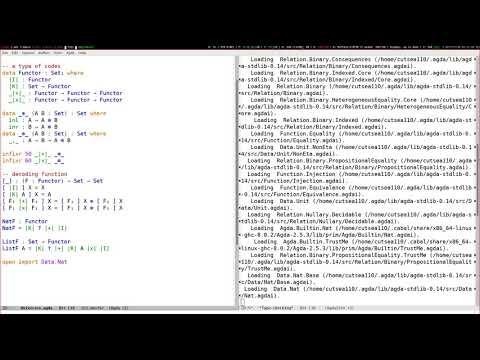 Agda Universes live coding
