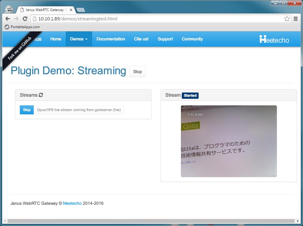 Janus WebRTC Gatewayでライブストリーミング(Raspberry Pi