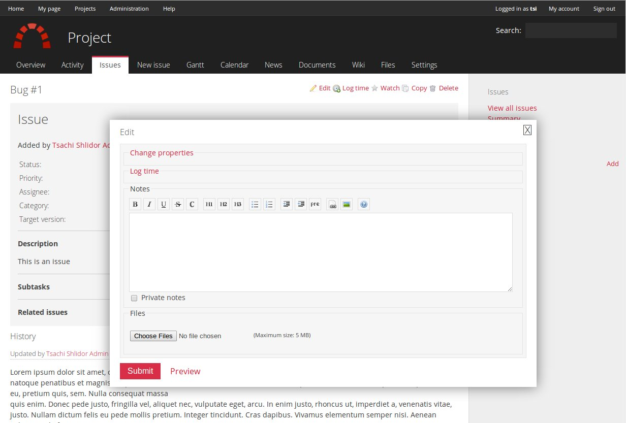 Flat theme for Redmine