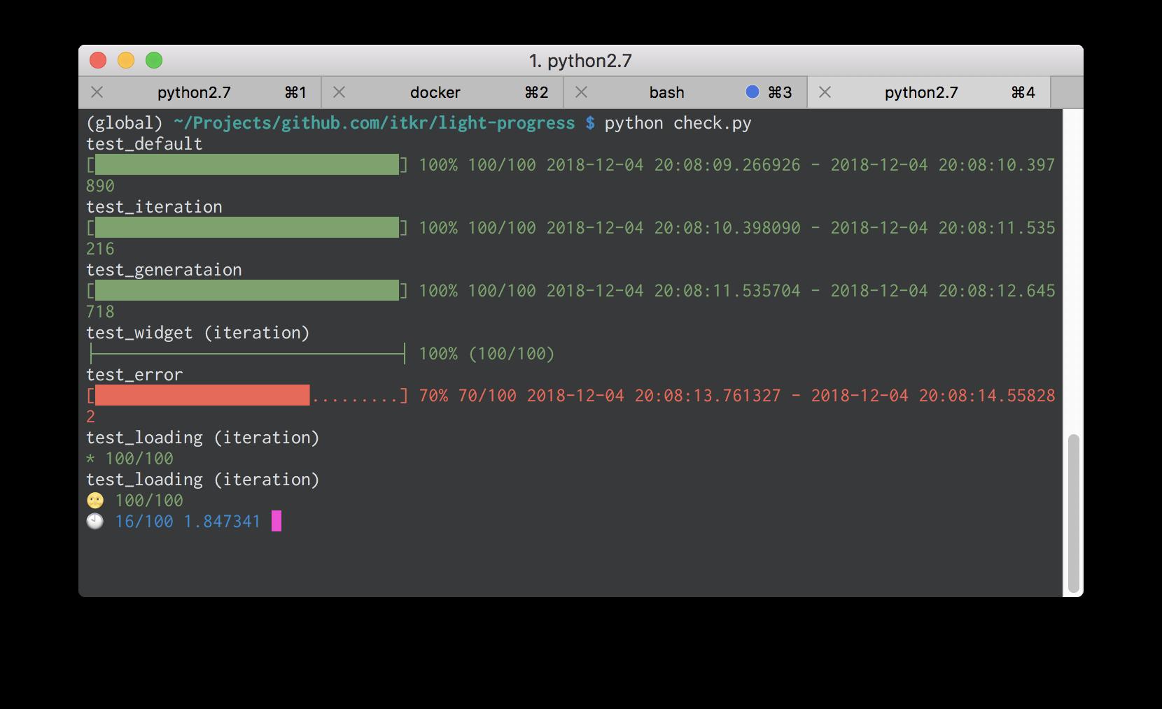 Pythonで `light-progress` を使って進捗(プログレスバー)を表示