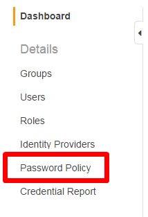 左メニュー-Password Policy