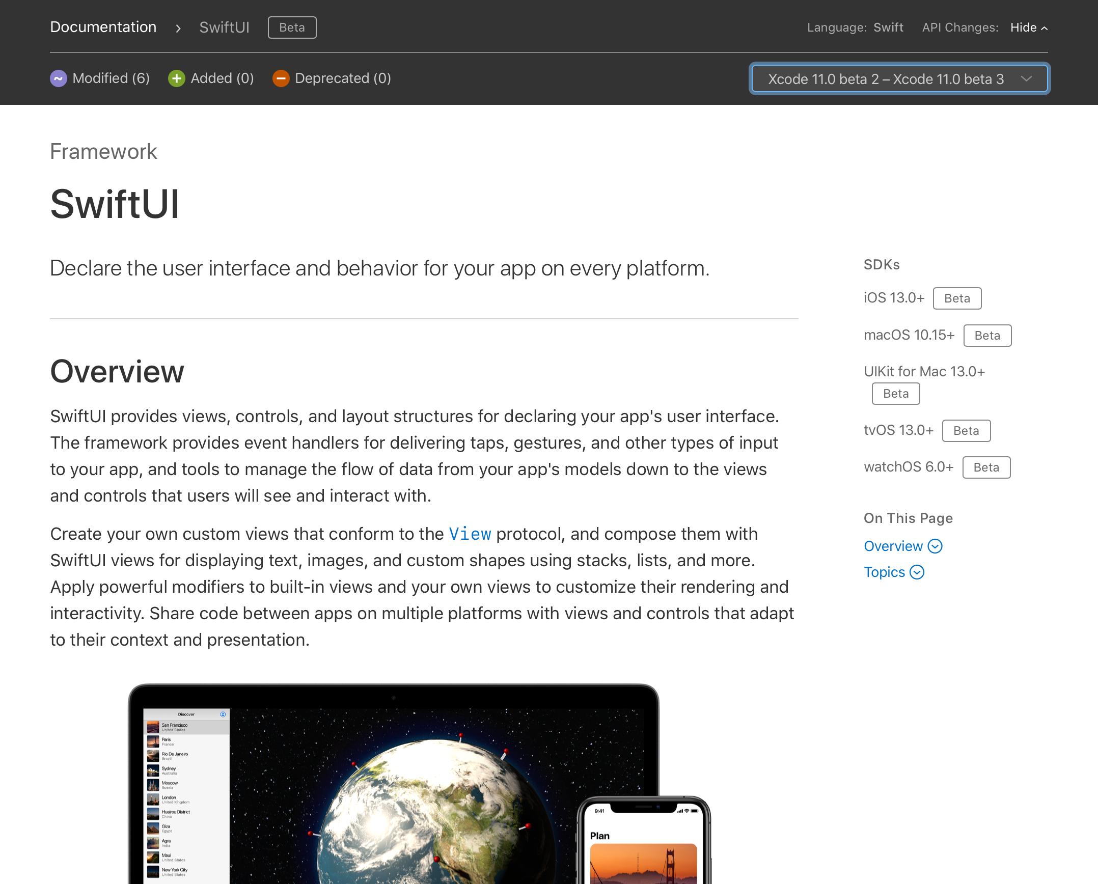 Deprecated] SwiftUI - Xcode 11 beta 4 での変更点 - Qiita