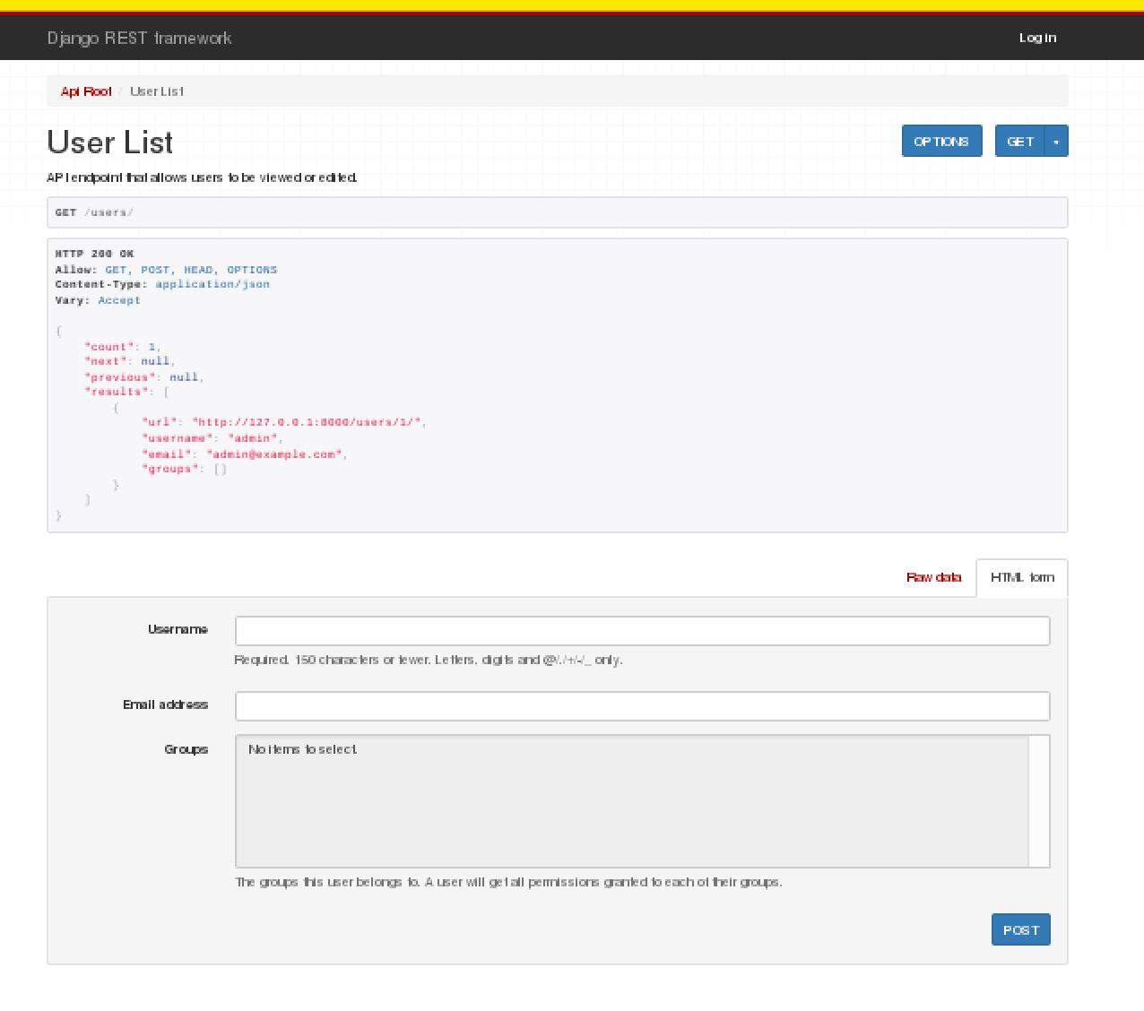 Django REST Frameworkチュートリアルをやってみた(1