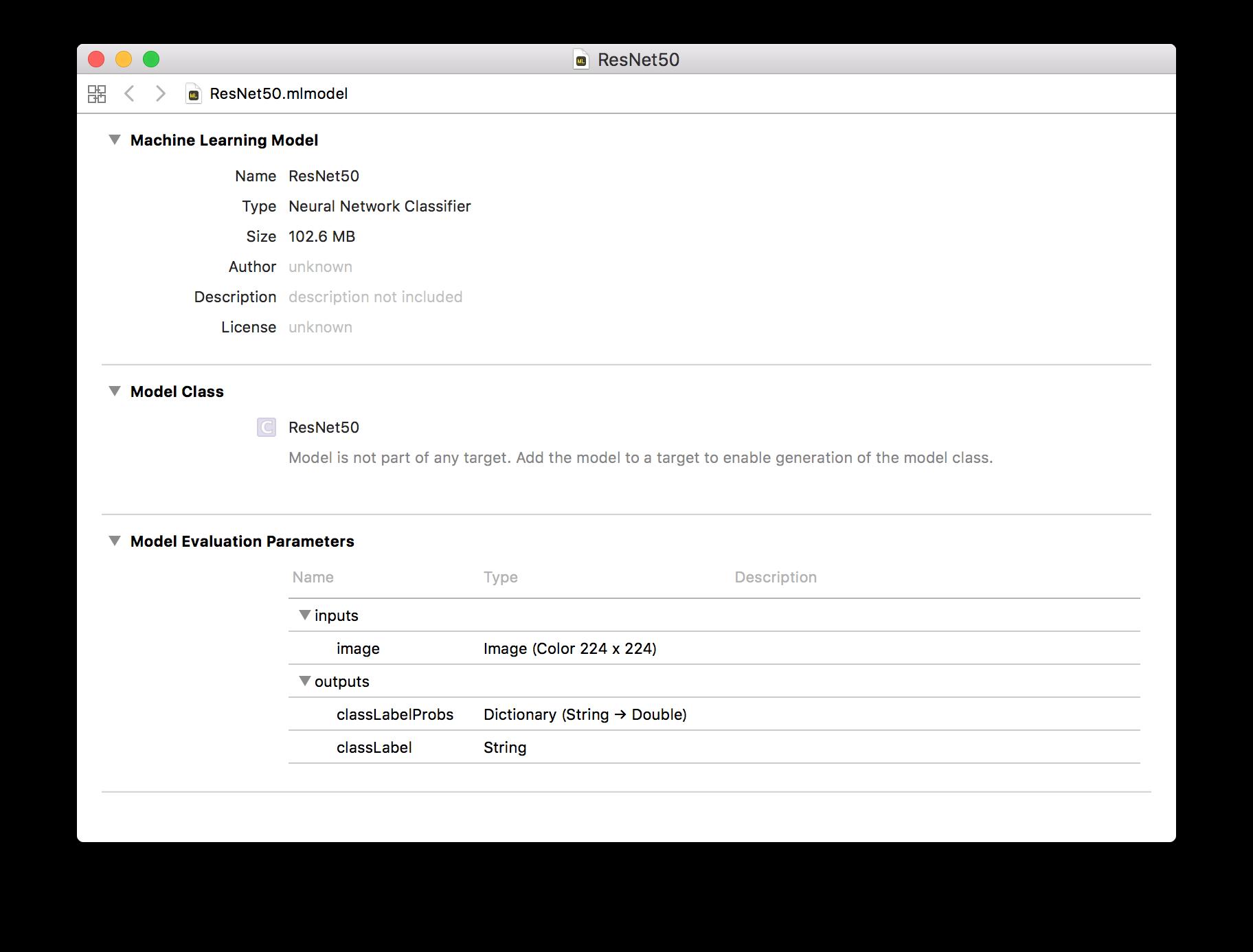 iOS] Core ML Toolsで mlmodelに変換する - Qiita