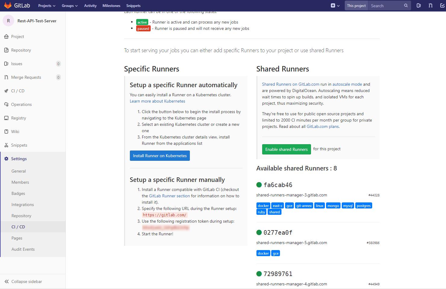 GitLab CIとdockerでRestAPIサーバーのテストとデプロイを自動化