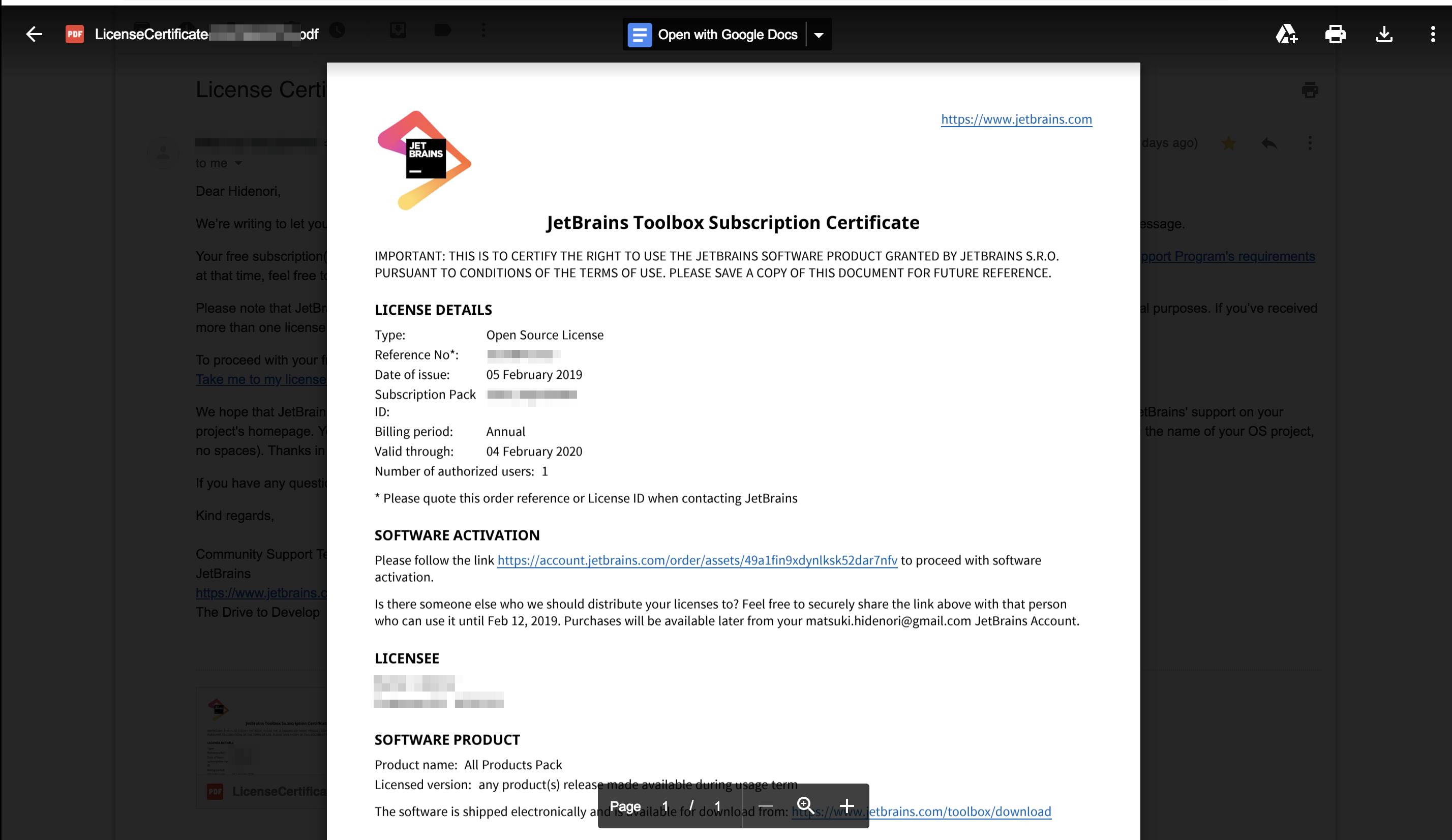 JetBrains のOpen Source Licenseをいただいた - Qiita