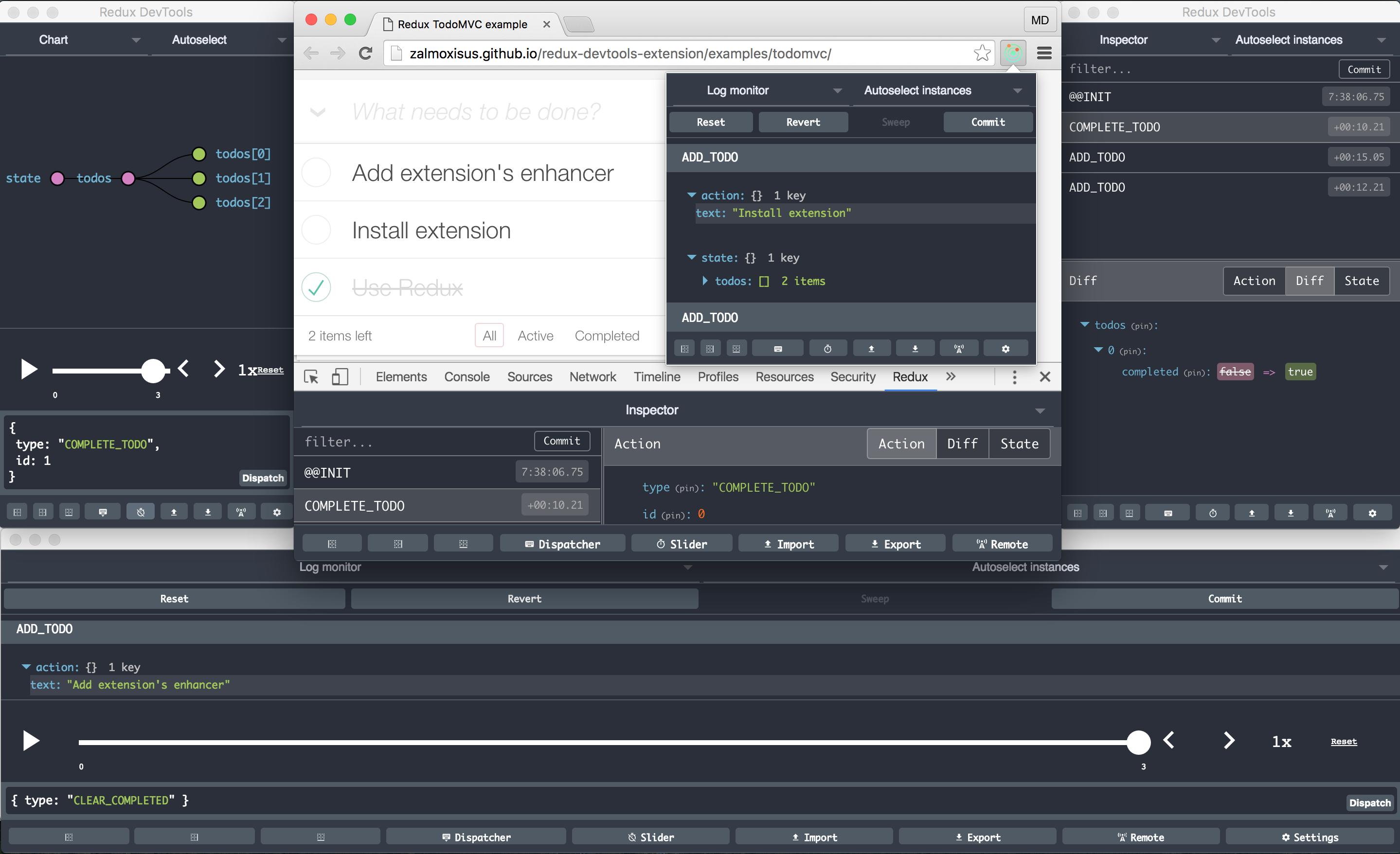 Redux DevTools Extension