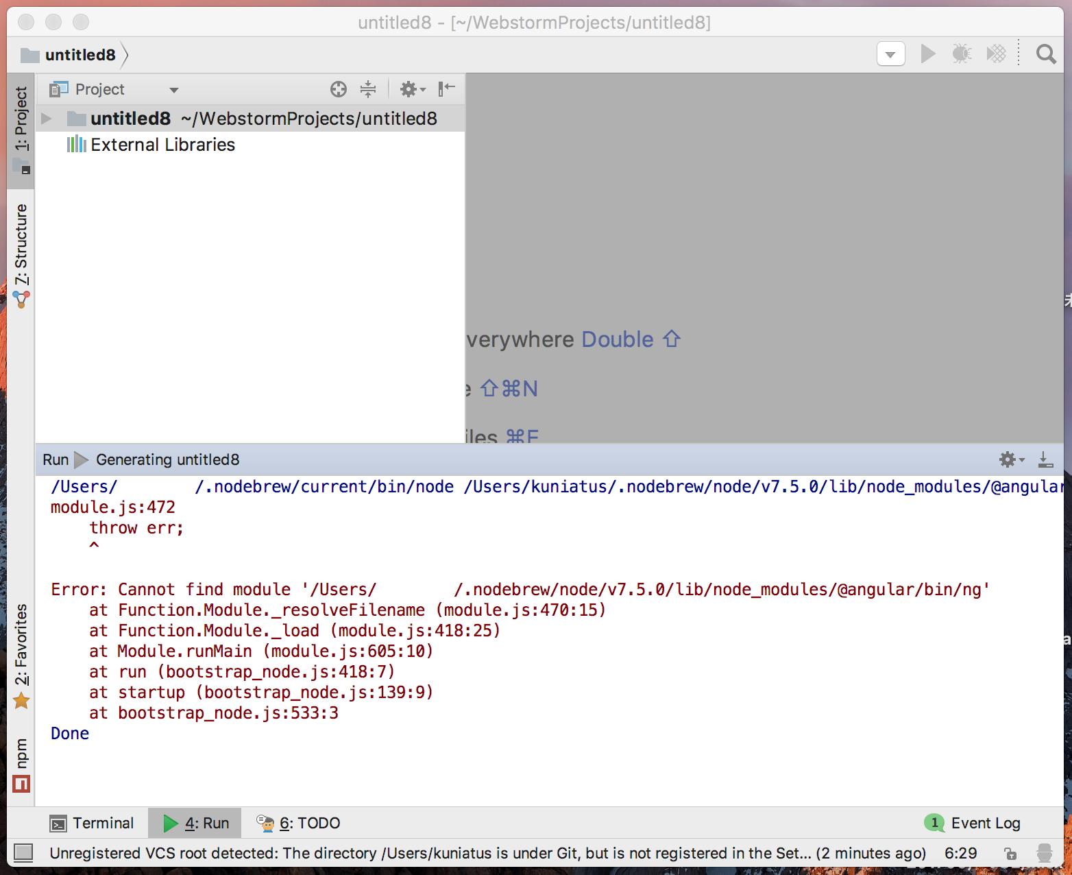 webStormでAngular-cliが使えない - Qiita