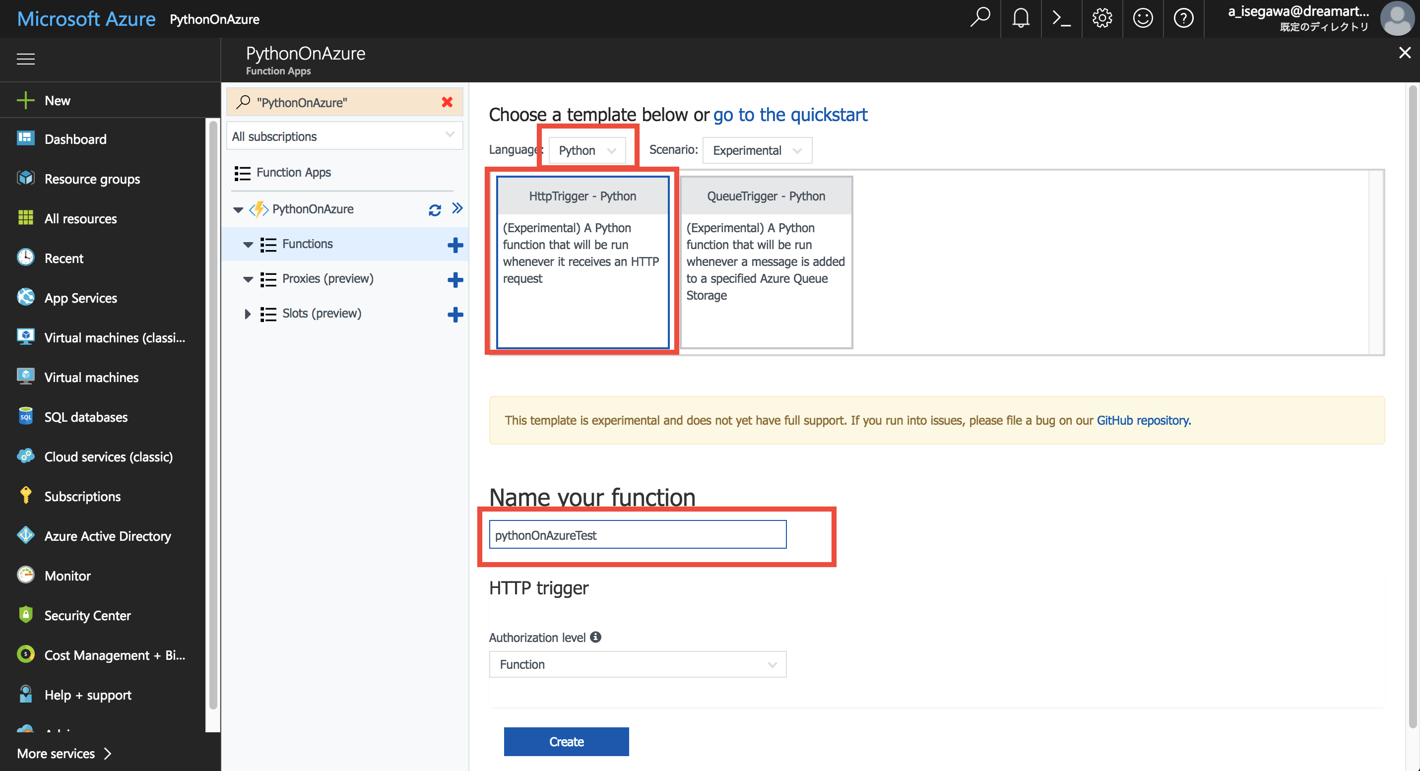Azure FunctionsでPython3とpipを使う - Qiita