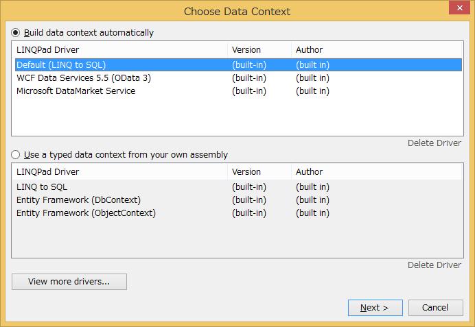 Choose Data Context