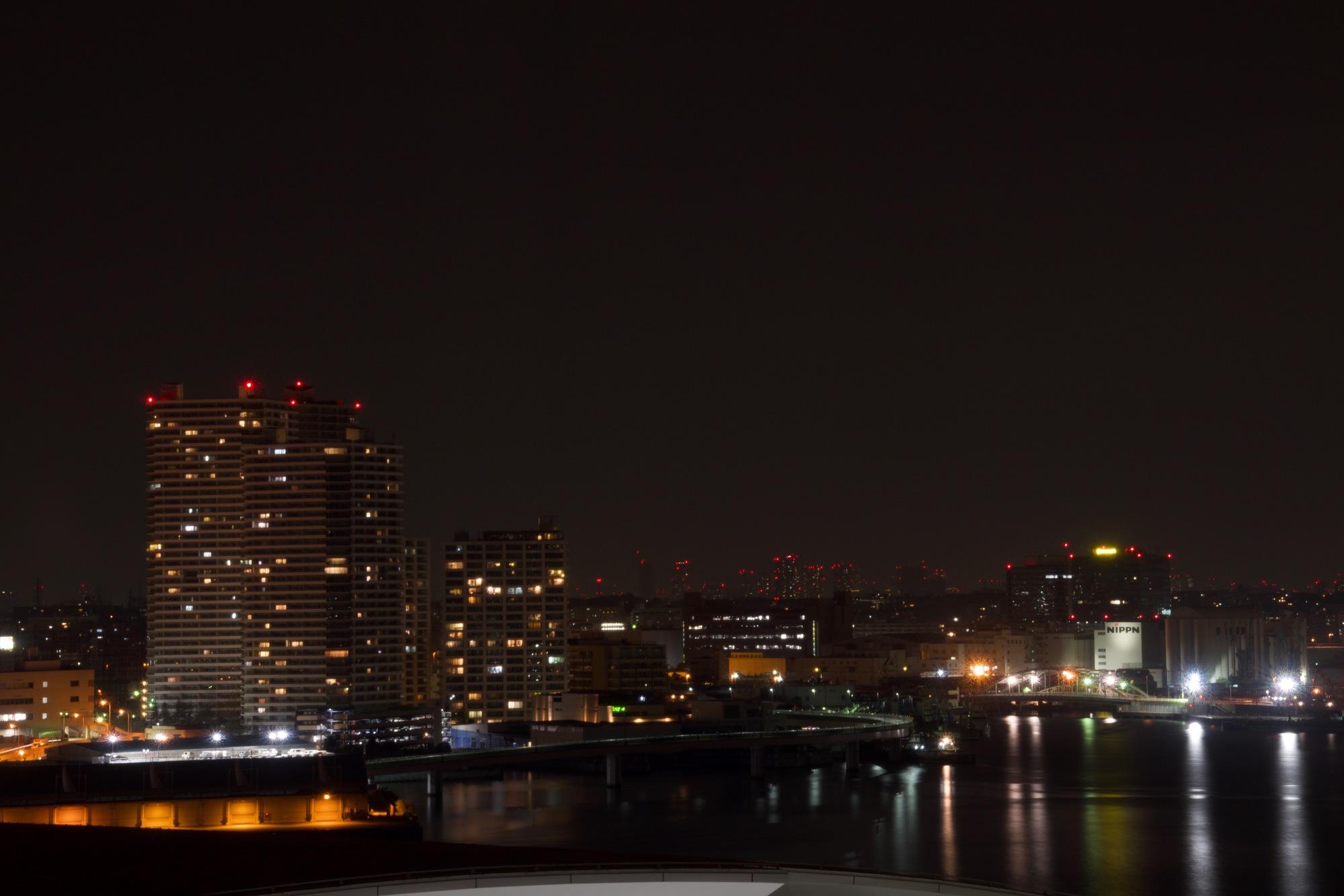 北東方向の夜景