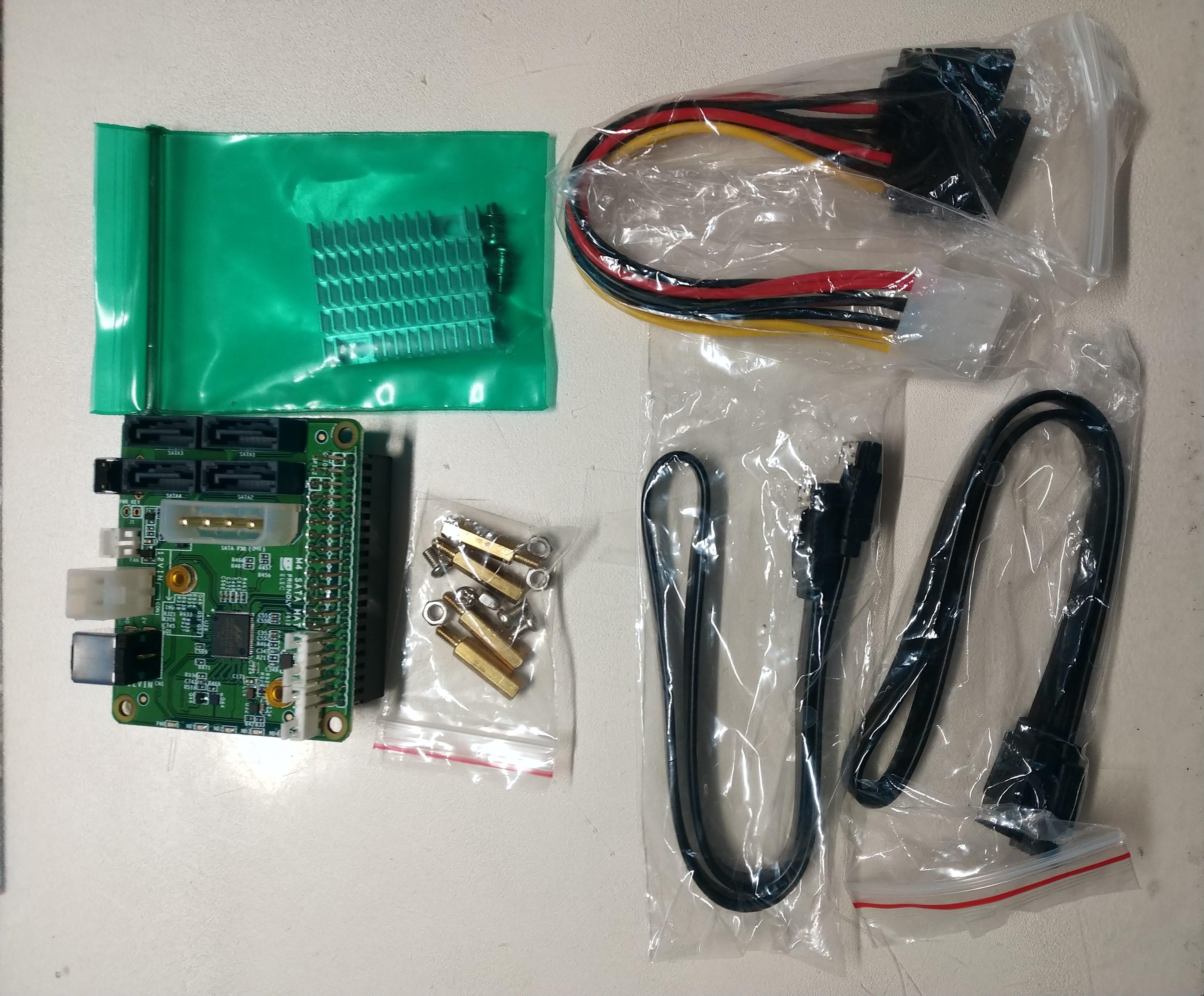 Nano Pi M4でファンレスシングルボードSATA NASを作る - Qiita