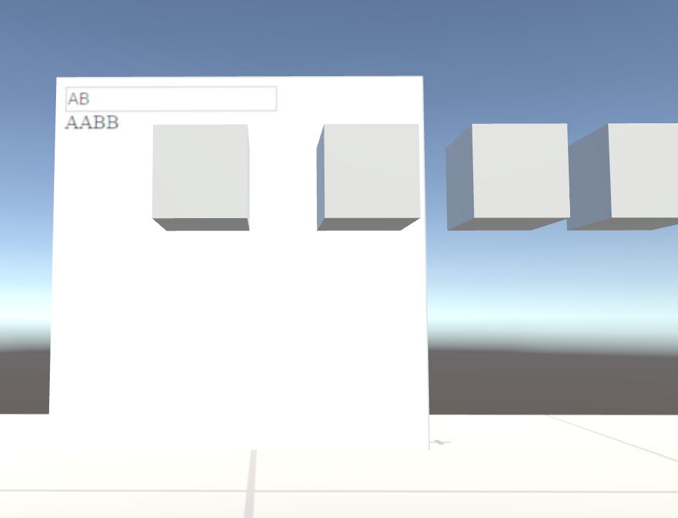 VRChatローカルテスト画面