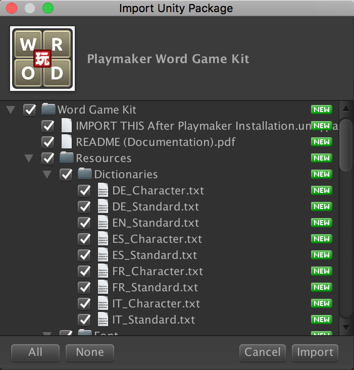 Playmaker Word Game Kit
