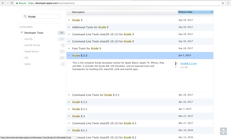 Xcode - インストール可能 対応バージョン macOS 一覧 / Install