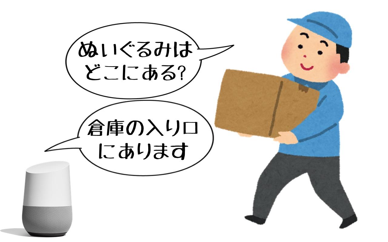 スマートスピーカーと会話する作業員.jpg