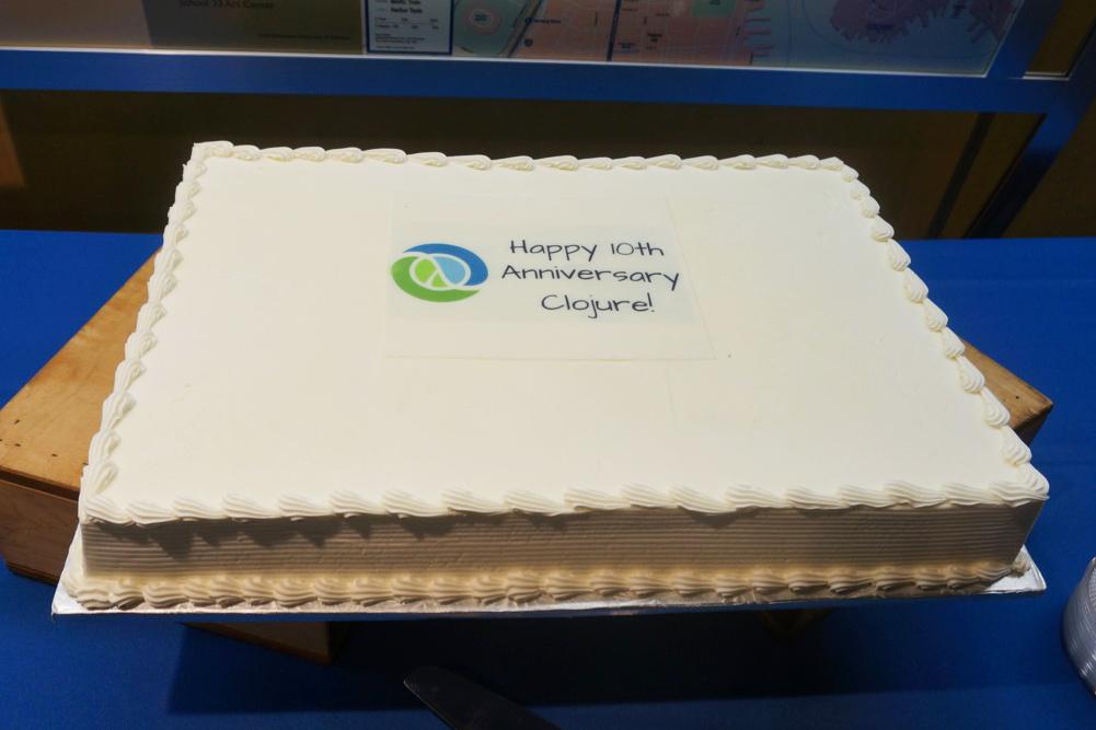 Clojure10周年記念ケーキ