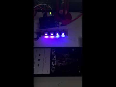 mbed LPC1114FN28でFFTしてRGB LED