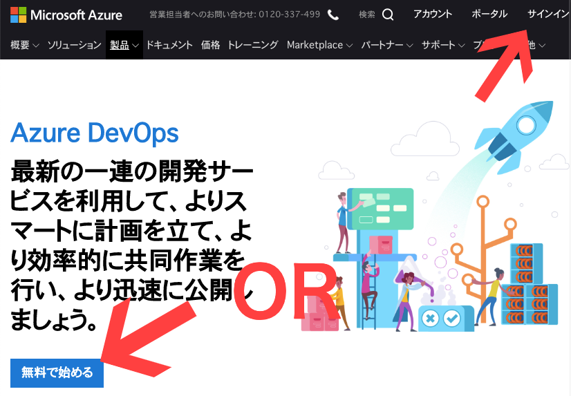 Azure DevOps に Project を作ってローカルの VSCode に Git